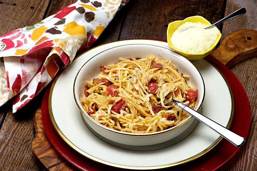 Pasta Bacon Toss Mi Coop Kitchen