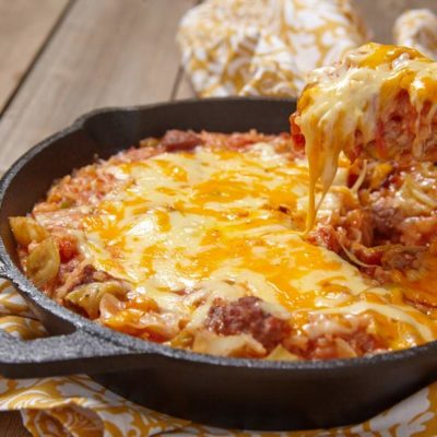 Venison, tomatoes, cheese, and sauerkraut, wild rice casserole