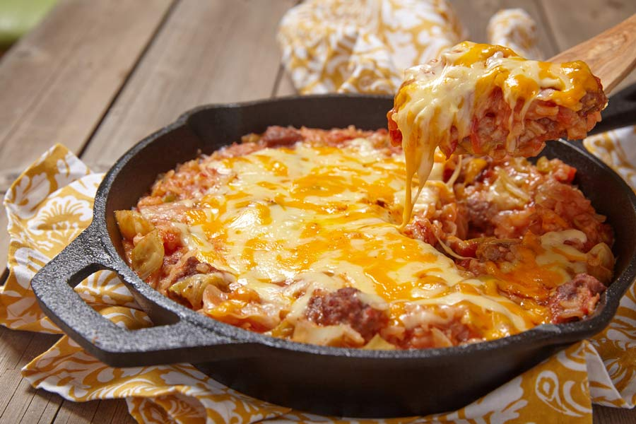 Venison, tomatoes, cheese, and sauerkraut, wild rice casserole