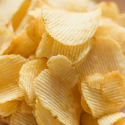 Ridged potato chips