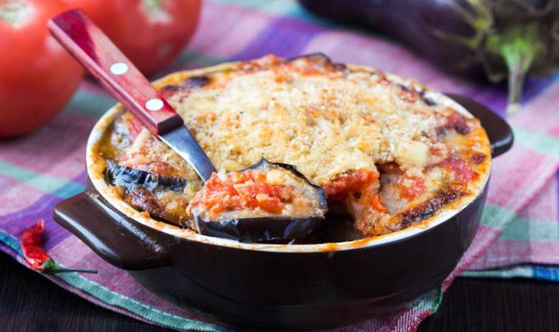 Eggplant Pie in Rice Crust