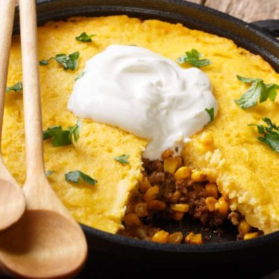 Cheesy Fiesta Corn Bake