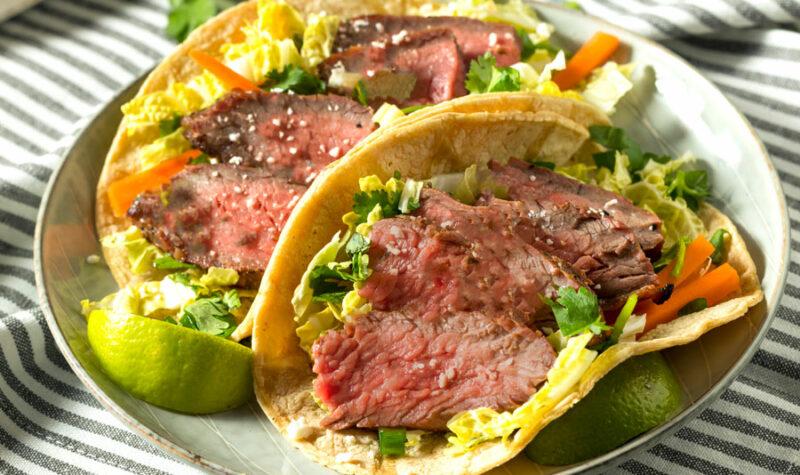 Korean Tacos on a plate